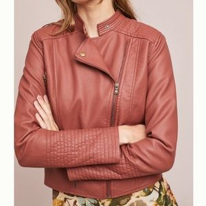 Anthropologie Vegan Leather Jacket